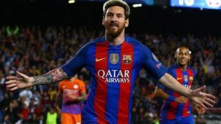 Messi amefunga magoli 10 katika michezo nane ya mwisho ya ligi ya mabingwa Ulaya
