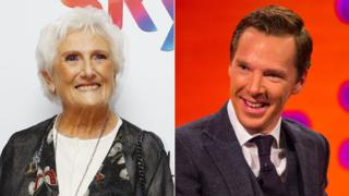 Beryl Vertue and Benedict Cumberbatch