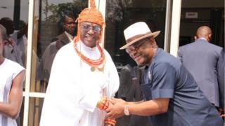 Omo N'Oba N'Edo Uku Akpolokpolo Ewuare II and Gov. Nyesom Wike