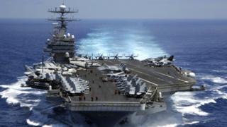 美軍航空母艦卡爾文森號(資料圖片)
