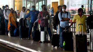 Airports are seeing long queues as flights resume after two months