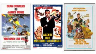 Images of the stolen James Bond posters