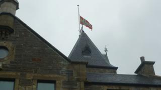 Flag at half mast