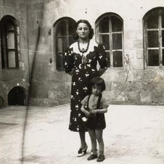 Zahed's father Ghassan as a young boy with his mother