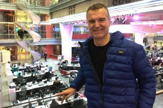 Dave Clark inside New Broadcasting House