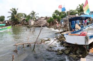 La línea costera de Gardi Sugdub, en Panamá.