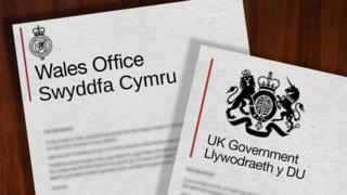 Wales Office and UK Government logos