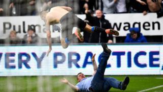 Newcastle fan John West on the St James' Park pit
