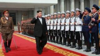 Ишембиде Түндүк Корея аскердик салтанаттуу жүрүш өткөрдү.