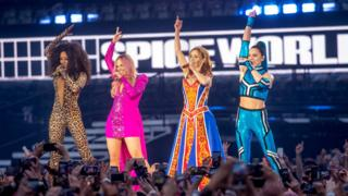 The Spice Girls at their tour opener in Dublin