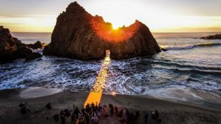Keyhole Arch, Pfeiffer Beach, Big Sur, California, USA