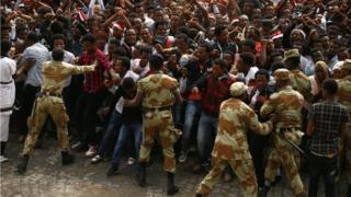 Protesta en Oramia