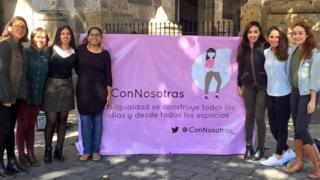 Mexican group Con Nosotras launch their campaign