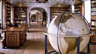 Stiftsbibliothek Kremsmünster (Perpustakaan Kremsmünster Abbey), Austria