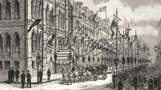 Town Hall 1889 opening parade