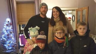 Laura Jones and her family