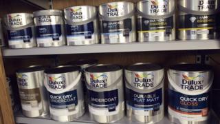 Dulux cans