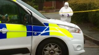 Forensic search at Rhyl murder crime scene