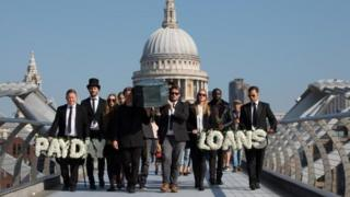 "A ""funeral procession"" for payday loans as part of marketing by Wagestream"