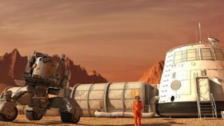 Космічна станція на Марсі