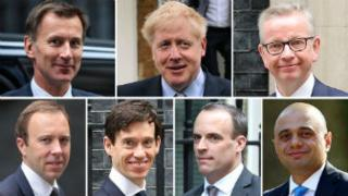 Boris Johnson tops first ballot in Tory leadership contest