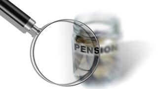pensions under magnifying glass