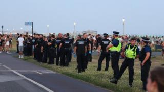 Gathering on Hove Lawns
