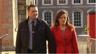 Garda Keith Harrison and Marisa Simms