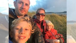 Peter McCleave, sons Max and Seb and wife Jenn