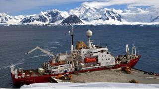 British Antarctic Survey ship