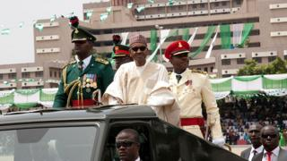 Buhari during swearing-in ceremony for 2015