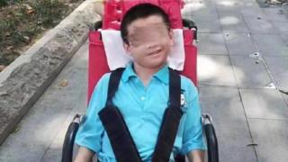 An image shared on Chinese social media of Yan Cheng sitting in a wheelchair