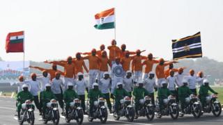 Парад на День Республики в Дели, мотоциклисты