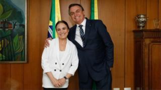 Regina Duarte e presidente Jair Bolsonaro