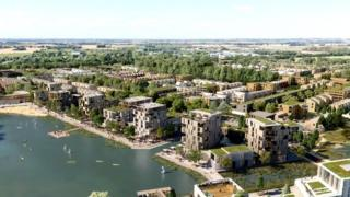 Artist's impression of Waterbeach homes