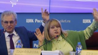 Глава ЦИК Элла Памфилова и ее заместитель Николай Булаев