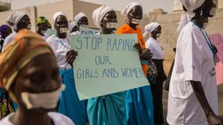 South Sudan women protest