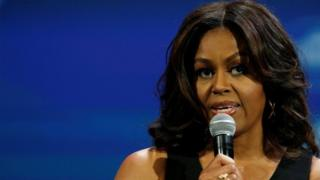 """US First Lady Michelle Obama speaks at the White House's """"United State of Women"""" summit in Washington, U.S. June 14, 2016."""