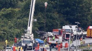 scene of plane crash