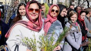 Вербна неділя в Києві