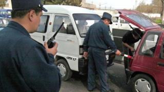 Transport police in Uzbekistan
