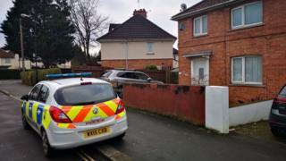 Police car outside property in Shetland Road