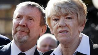 Hu and Bea Jones after the verdict