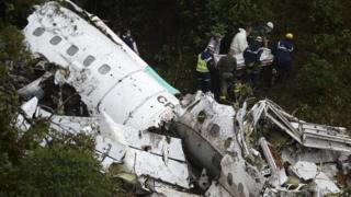 Destroços da fuselagem