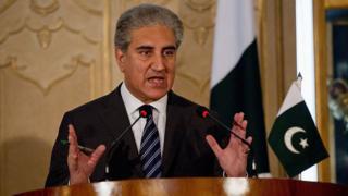 पाकिस्तानी विदेश मंत्री शाह महमूद क़ुरैशी