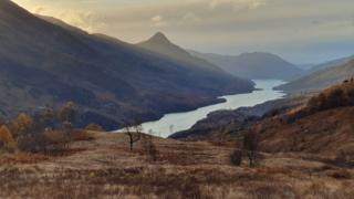 A view with the Pap of Glencoe in the centre