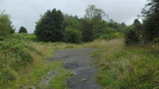 Abandoned site behind Trallwn Road