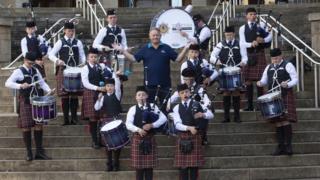 Scottish Fire and Rescue Novice Juvenile Pipe Band