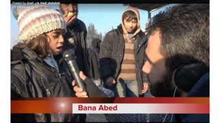 Bana Alabed being interviewed by a journalist