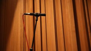 A stage microphone
